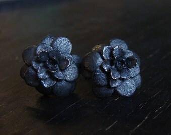 Sedum Rosette Posts -- Nature Cast -- Botanical Jewelry -- Ready to Ship