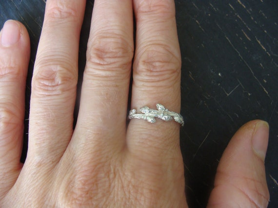Intertwined Wild Blueberry Branch Ring