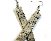 Birch Bark Earrings...sleek, slender, sexy
