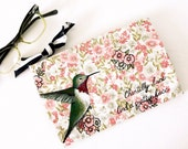 Vintage Makeup Bag, Teens, Under 50, Green, Pink, Womens, Hummingbirds, Birds