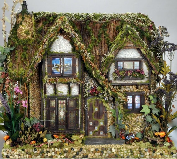 The Cotswold Cottage Fairy Dolls House  Commission For Nathalie Peach Bedroom