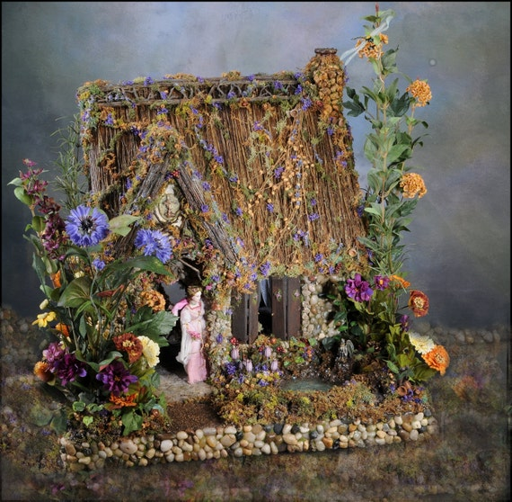Reserved  1:12 Scale Beloved Fairy Dollhouse Wind's End Cottage  installment payment