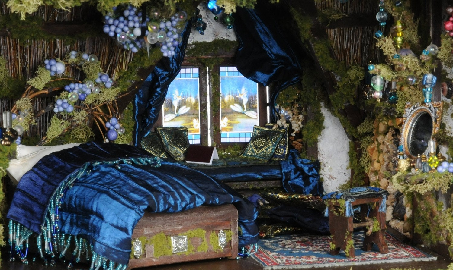 The cotswold cottage fairy dolls house custom by melissachaple for Enchanted forest bedroom ideas