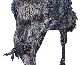 Listening To Raven spirit animal print