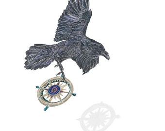 The Compass of My Heart Raven