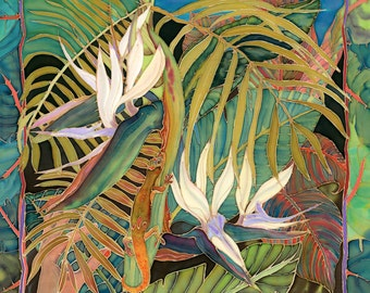 Everyone Wants You When You're  Beautiful (gold dust lizard and birds of paradise)