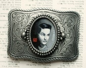 Ed Wood - A Man After my Own Heart- belt buckle - original painting by Mab Graves