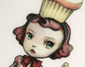 The Baker - Cupcake Queen -3 blank notecards- by Mab Graves