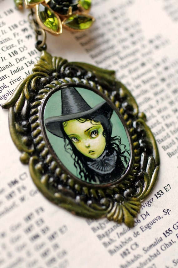 Reserved for purelush - Elphaba the Wicked Witch - from the Oz Collection - original cameo by Mab Graves