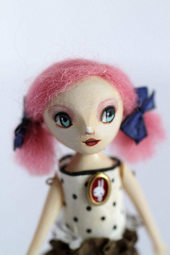 Lucy Pinks - original ooak art doll by Mab Graves