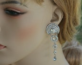 Greek Goddess Swarovski crystal earrings