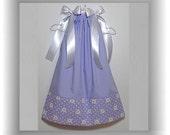 Pastel Purple Daisy Dress - Custom Boutique Girls Pillowcase Dress - Jumper Dress - Sundress