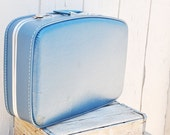 Retro Fabulous and Playful Blue Suitcase