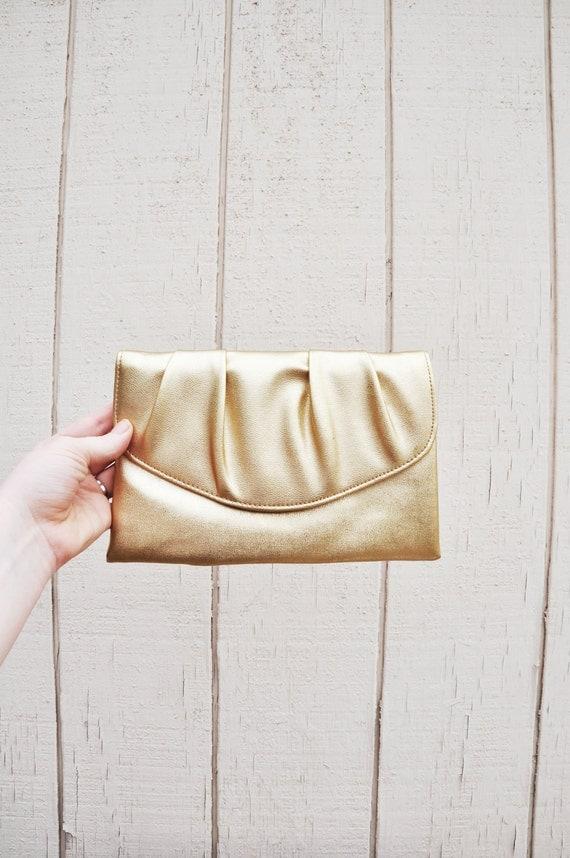 Retro Shiny Gold Clutch