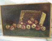 Framed apple oil painting (ON HOLD FOR RETRO58)