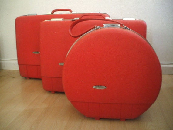 1960's suitcases (set of 3)