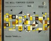 "ERIK NITSCHE record album design, 1953. Bach ""The Well-Tempered Clavier"" LP"