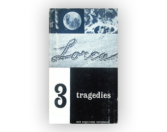 "Alvin Lustig paperback book cover design, 1955. ""3 Tragedies"" by Federico Garcia Lorca."