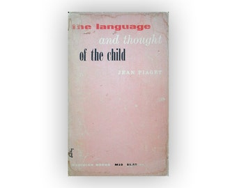 "Alvin Lustig book cover design, 1955. ""The Language and Thought of the Child"" by Jean Piaget."