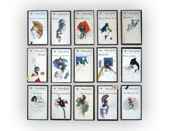 Milton Glaser instant collection. Fifteen Signet Classics Shakespeare books, 1964.