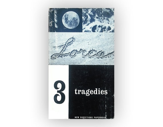 "Alvin Lustig paperback book cover design, 1955. ""3 Tragedies"" by Federico Garcia Lorca."