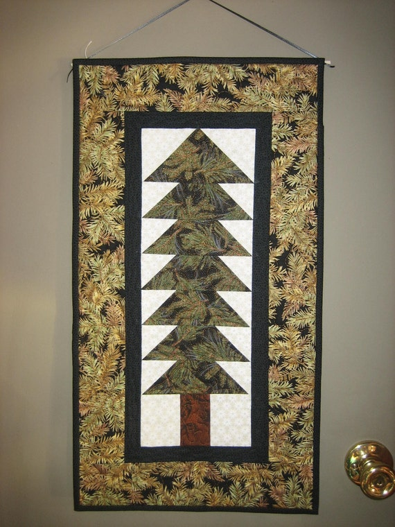Pine Tree Wall Hanging Fabric Art Quilt By Tahoequilts On Etsy