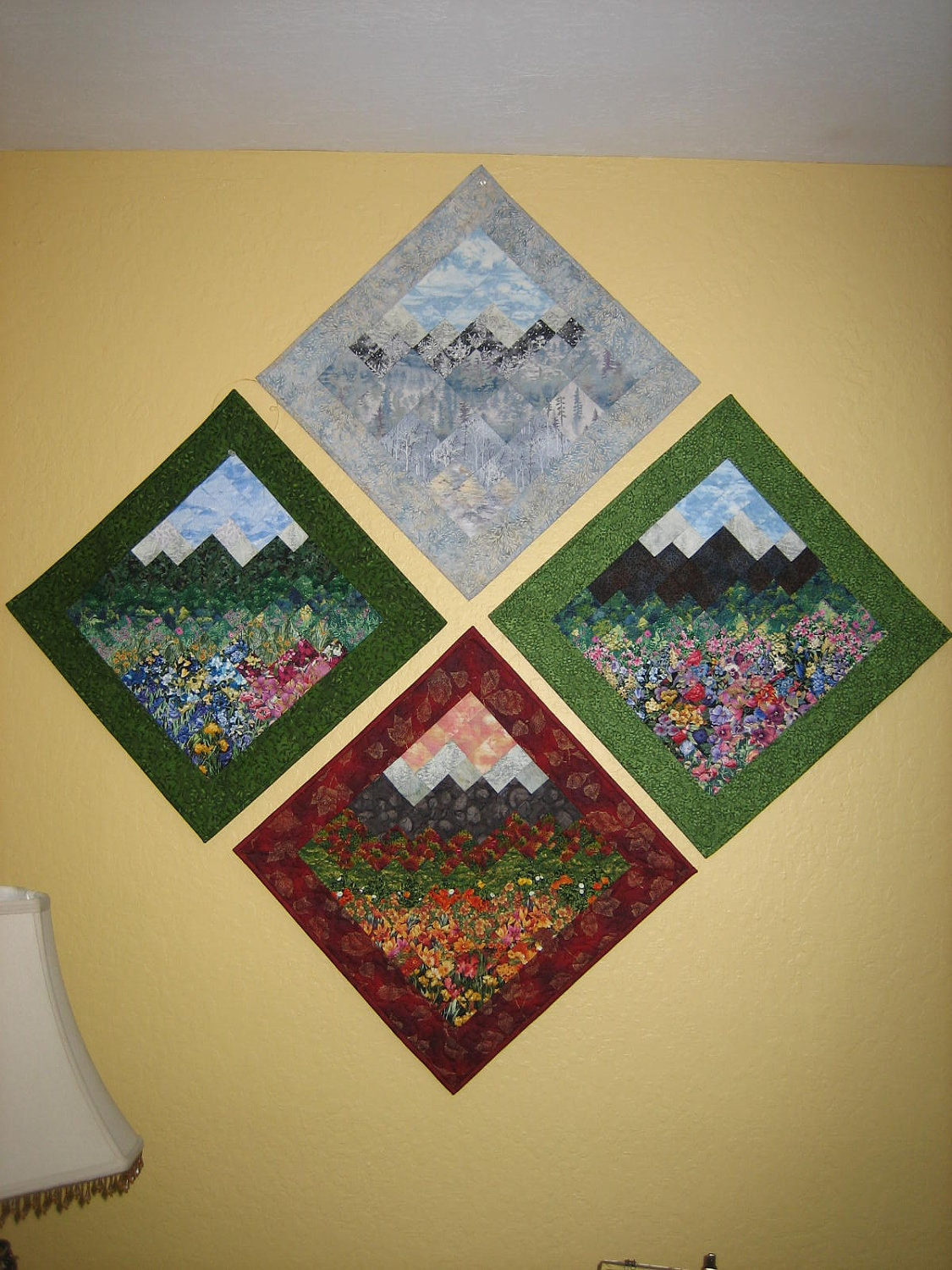 Art Quilt Four Season Wall Hangings