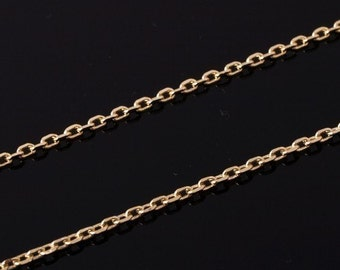 Gold-plated 245 Diamond Cut Cable chain, 3 Meters