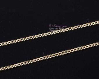 Gold plated, 145 Curb chain, 3 Meters