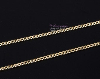 WSALE / 20M /  Gold plated, 145 Curb chain