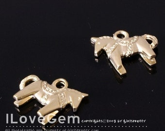 NP-868 Pewter, Matt.Gold-plated, Pony charm, 4pcs