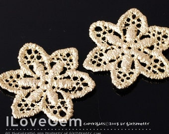 SALE/ 10pcs / NP-909 Pewter, Matt Gold-plated, Star Flower lace Pendant