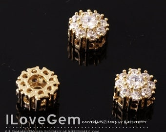 NP-1169 Gold-plated, 6mm CZ, Pendant, 1pc