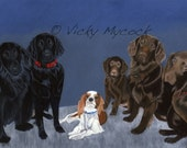 SALE 50% OFF Coupon code: Closingdownsale Family knows no breed A3 print with border