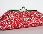The Red Candy Clutch silver frame