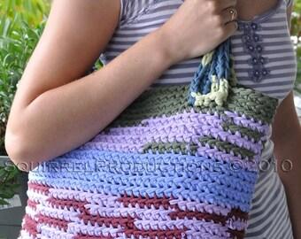 Crochet t-shirt yarn tote bag PATTERN ONLY