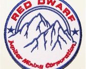 Free shipping Red Dwarf Series JUPITER MINING CORP Patch Badge 8.5cm 3.5""