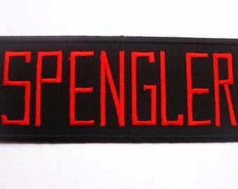 Free shipping Ghostbusters SPENGLER Movie Custom Uniform Name Tag Iron On PATCH 4.5x12 cm
