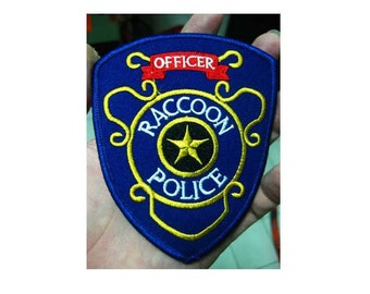 Free shipping RESIDENT EVIL Raccoon police Officer Patch 9.5x11cm