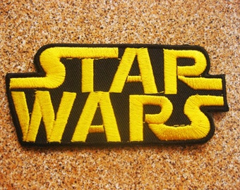 Free shipping STAR WARS Movie Logo TAG Classic Patch Badge 4x9.5cm