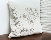 Cushion Cover - Blossoms, Natural
