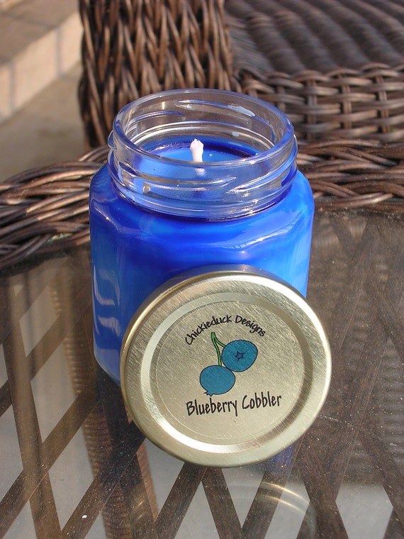 Blueberry Cobbler Natural Soy Jar Candle