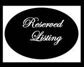 Reserved listing for Sheryl