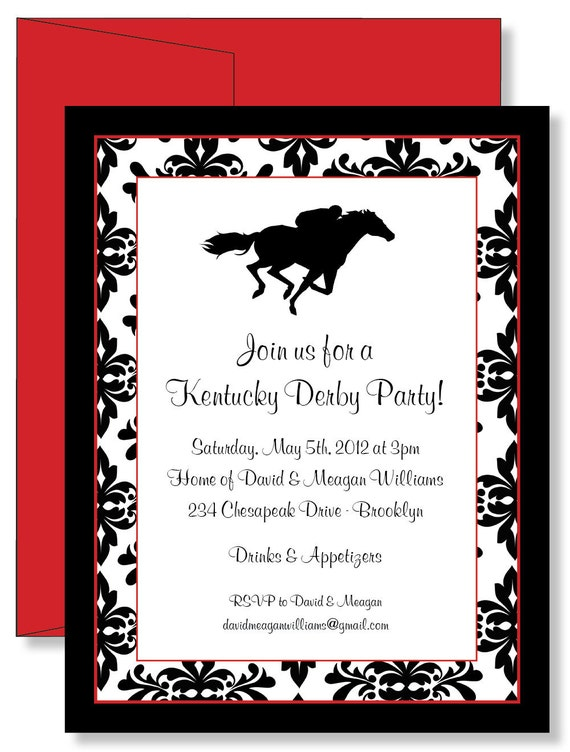 Custom Damask Kentucky Derby Horse Racing Party by ...