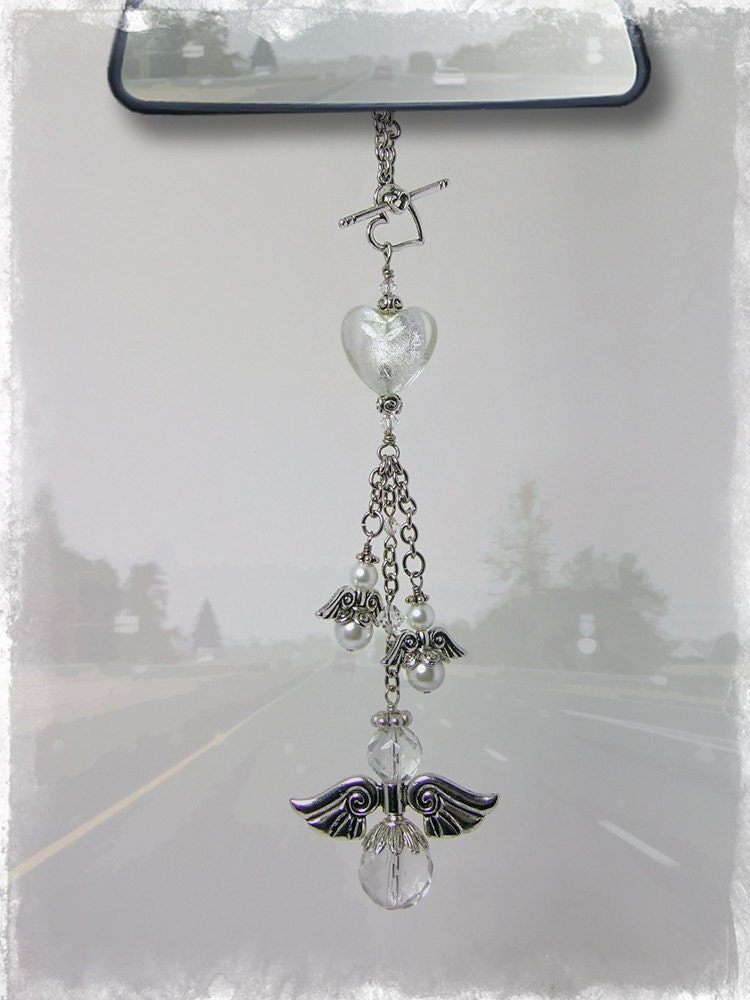 Guardian Angel Car Charm Rear View Mirror Car Accessories
