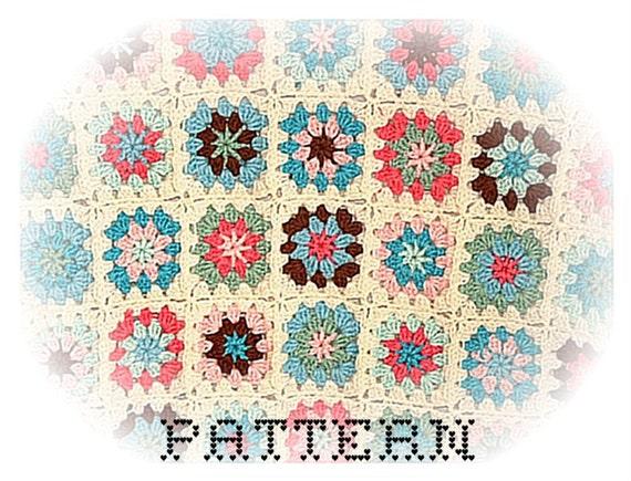 Ice Cream Sundae Baby, Child, or Lap Afghan - Instant Download Digital File - Crochet Pattern