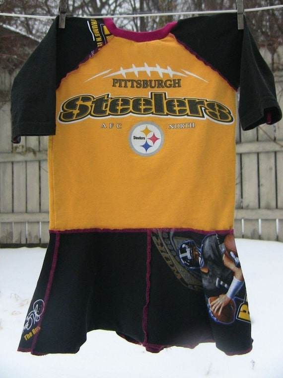 Upcycled Steelers Dress 4/5T