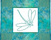 DARING DRAGONFLY - PPC 108 --- Hand Embroidery Pattern Printable Download Pdf Free Shipping Primitive Shabby Chic Home Decor