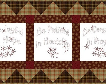 BE JOYFUL --- Hand Embroidery E-Pattern Printable Download Pdf Diy Simple Free Shipping Easy to Do Primitive Blackwork Christian Home Decor