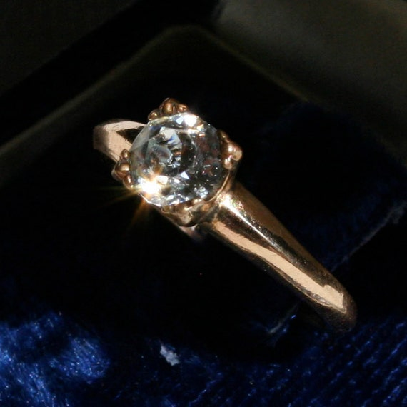 Vintage 1950s Gold Engagement Ring Size 6